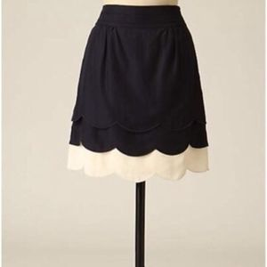 Anthropologie Scalloped Clouds skirt, Floreat sz4